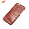 crocodile pattern cow leather back cover case for iphone 6 with card slot