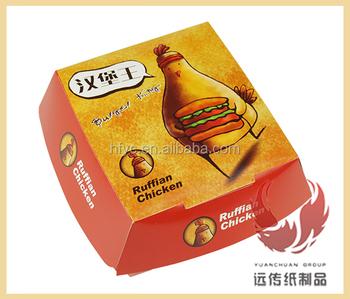 Disposable Printing Foldable Fast Food Packaging Burger Box Custom ...