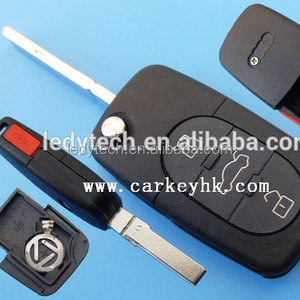 Sales Promotion Auto key flip 3+1 buttons remote key shell for audi 1616 battery (round button)