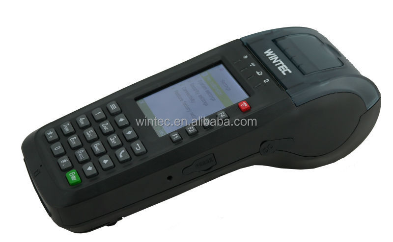 "IDT100 2.8"" GPRS sim card Handheld POS With Printer"