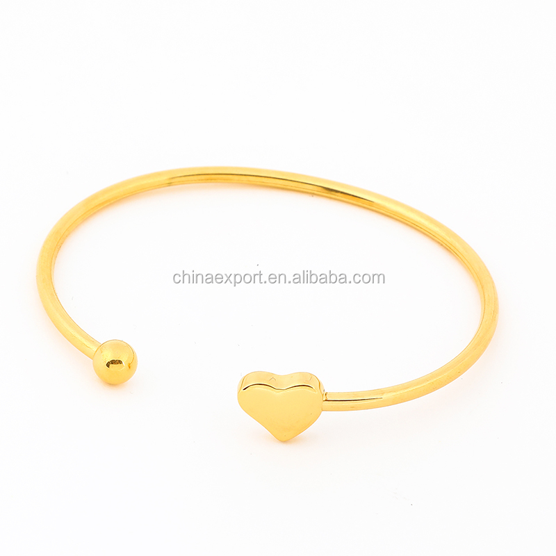 Yellow Gold Color Single Designs Love Bangle Women Jewelry
