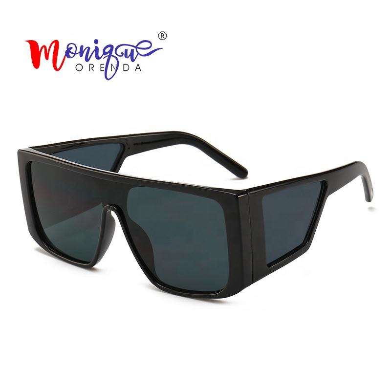 Vintage Oversized Flat Top Sunglasses Women Luxury Brand Designer Retro Square Sun Glasses Female 2019 Newest Gafas de sol UV400 фото