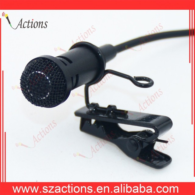 hot selling lapel collar clip microphone live interview and record wired professional interview microphone