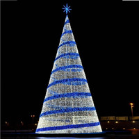 New commercial big size outdoor led christmas tree lights for shopping mall