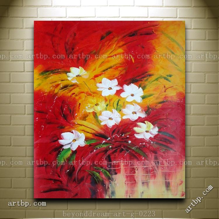Popular Flower Canvas Painting Ideas-Buy Cheap Flower ...