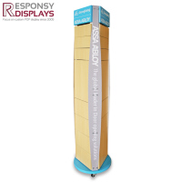 rotatable floor standing metal and wood door lock display Multi-functional display stand