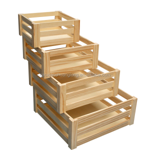 Chinese Apple Cheap Wooden Fruit Crates For Sale, high quality wooden fruit crates,wooden vegetable crates