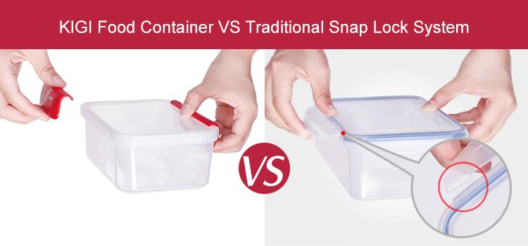 KIGI SmartTrack Transparent Kitchen Grain Storage Candy Food Plastic Container Box