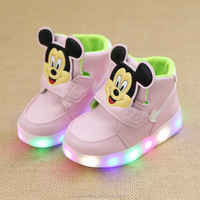 2017 Trendy Hot Boys Girls Colorful LED Shoes Light Up Sports Baby Sneakers Kids Dance Shoes
