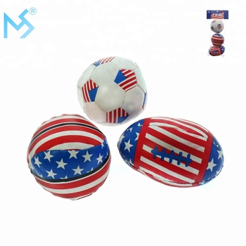 4th of July Independent day American flag kids sport stress soccer ball