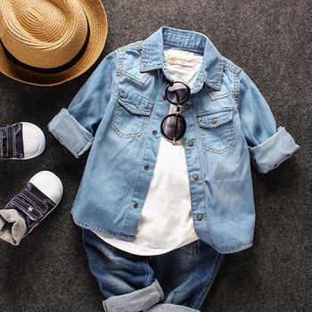 60cbffd1d 2017 Wholesale Kids Jeans New Style Fashion Kids Boys Denim Shirt ...