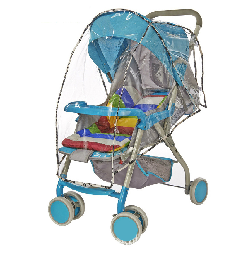 Summer Universal Baby Stroller Transparent Rain Cover Plastic Material For Most Of Strollers Rain Wind Cover Of Infant Stroller