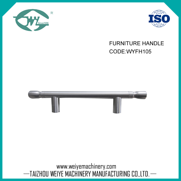 Stainless steel brush pull handle for cabinet