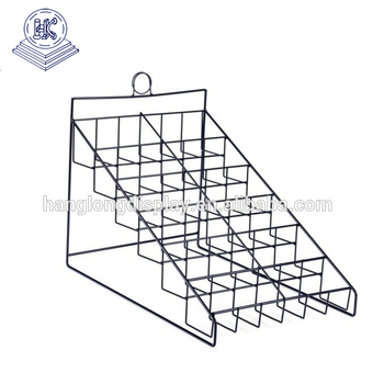 Countertop Book Black Metal Wire Grid Display Shelf Rack