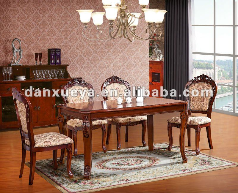 Sheesham Living Room Wood Classical Dining Table And Chairs Dxy 902