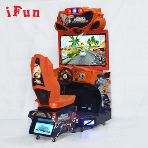 coin operated arcade video racing driving simulator game machine