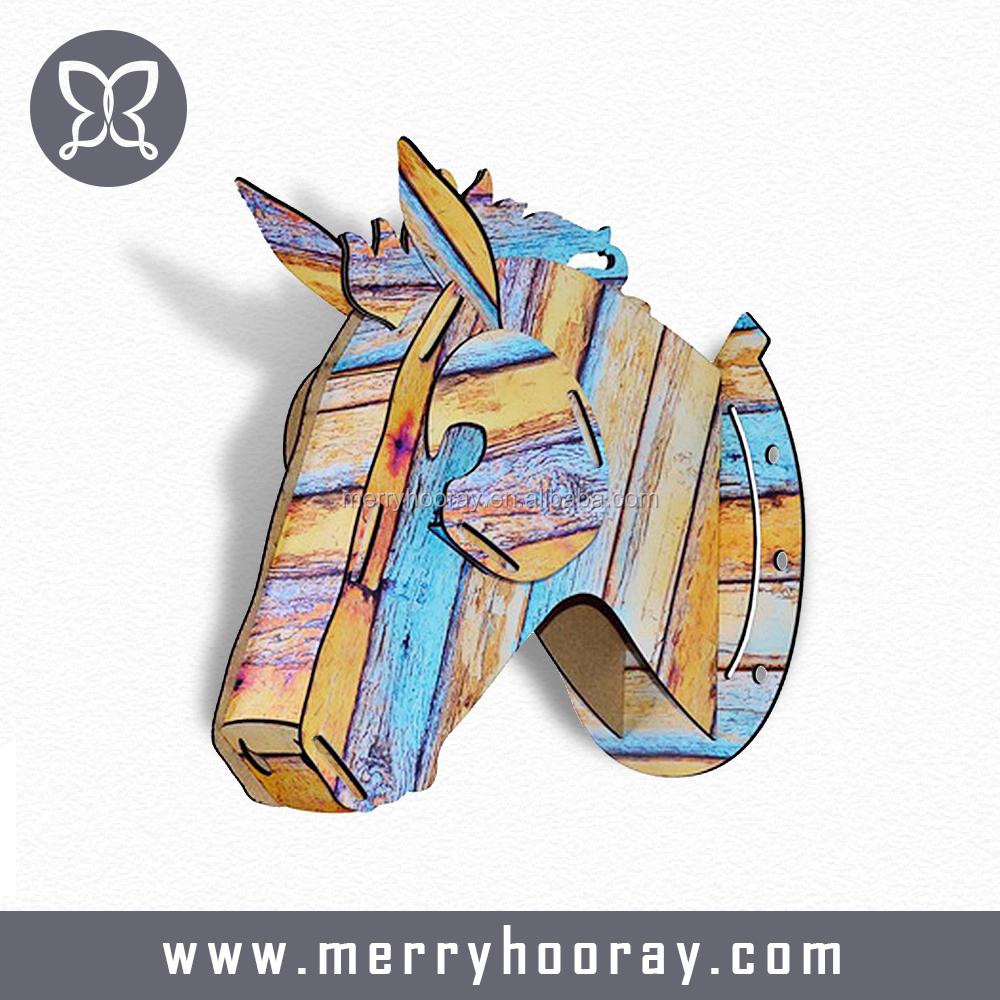 hoge kwaliteit mode houten paard hoofd de art muur opknoping, Meubels Ideeën