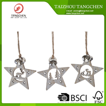 3pcs star hanging Xmas gift Christmas tree hanging decoration holiday decoration