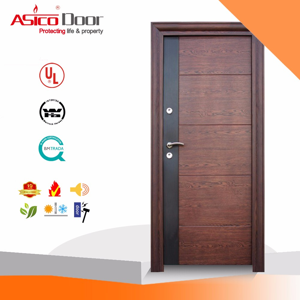 Asico Hot Design Single Bedroom Wooden Door With Bs 476