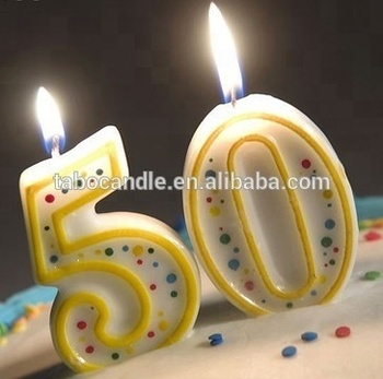 Wholesale Non Toxic Birthday Cake Candle Colored Number