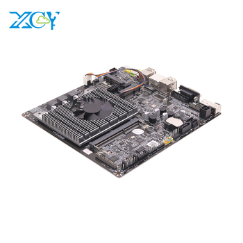 XCY Mini ITX motherboard Intel J1900 8gb ram X86 fan mainboard Mini PC Win10 board with LVDS