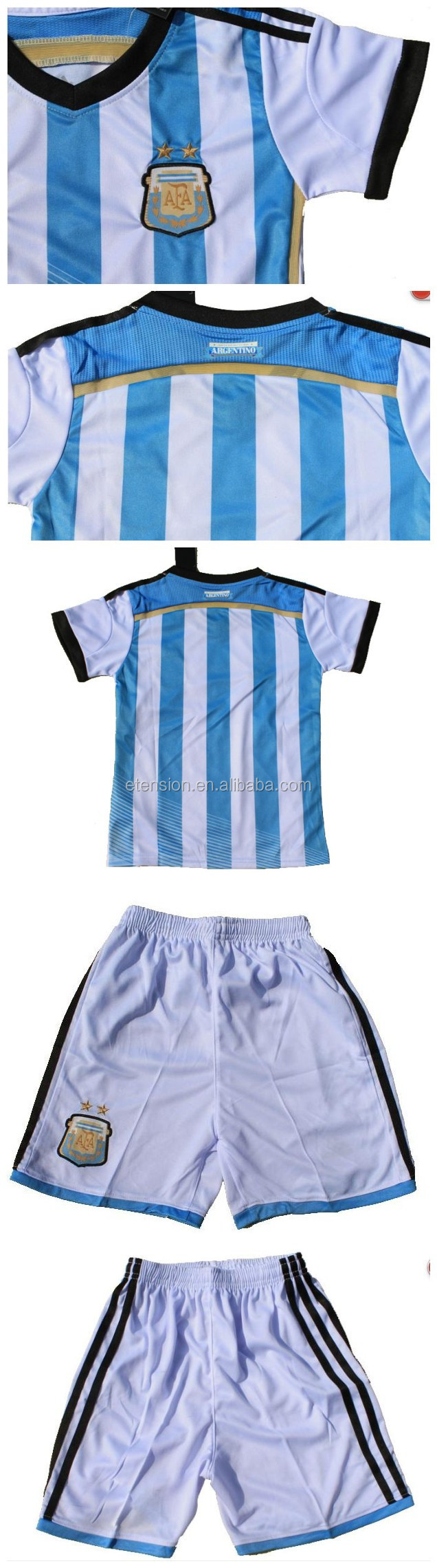 Boy's Jersey football sports clothing/Top sale 2014 world cup kids soccer jersey suit
