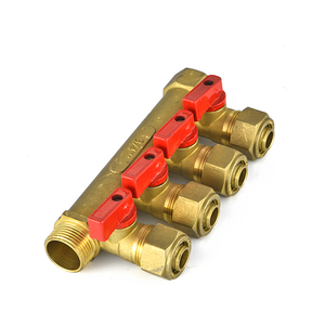 Ifan Brass fittings 4 ways manifold for pex pipe