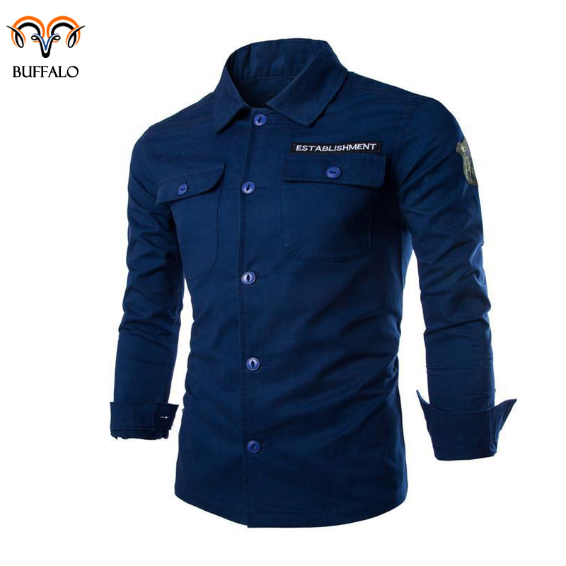 2015 Shirt Men 100% Cotton Camisa Social Masculina Brand Casual Fashion Slim Fit Long Sleeve Shirt Camisa Masculina Male Shirt