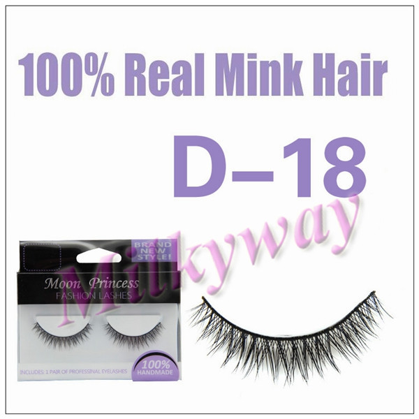 Milkyway fashion style crossing 100% real mink fur eyelash D18