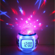 CT-136 Best seller Creative romantic gifts Music Star Projection Alarm Clock (Creative item: dual projection alarm clock)