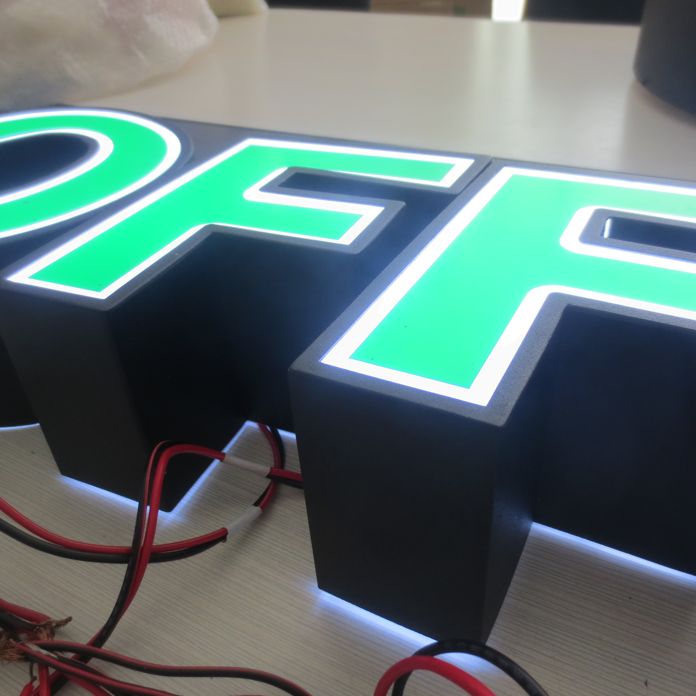 moda outdoor alfabeto lettera acrilico usato insegna luminosa