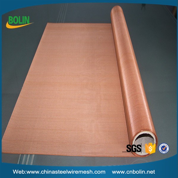 Radiation Protection EMF Shielding Protection Fabric Copper Wire Mesh Fabric