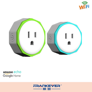 Frankever New design blue green wifi smart socket wifi control mini socket
