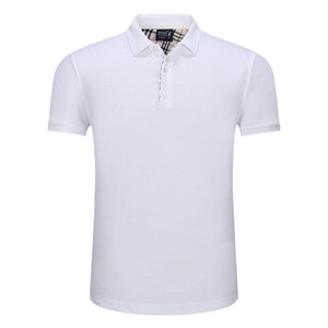 Mens Casual 100% Cotton Slim Fit Short Sleeve Collared Polo T Shirt