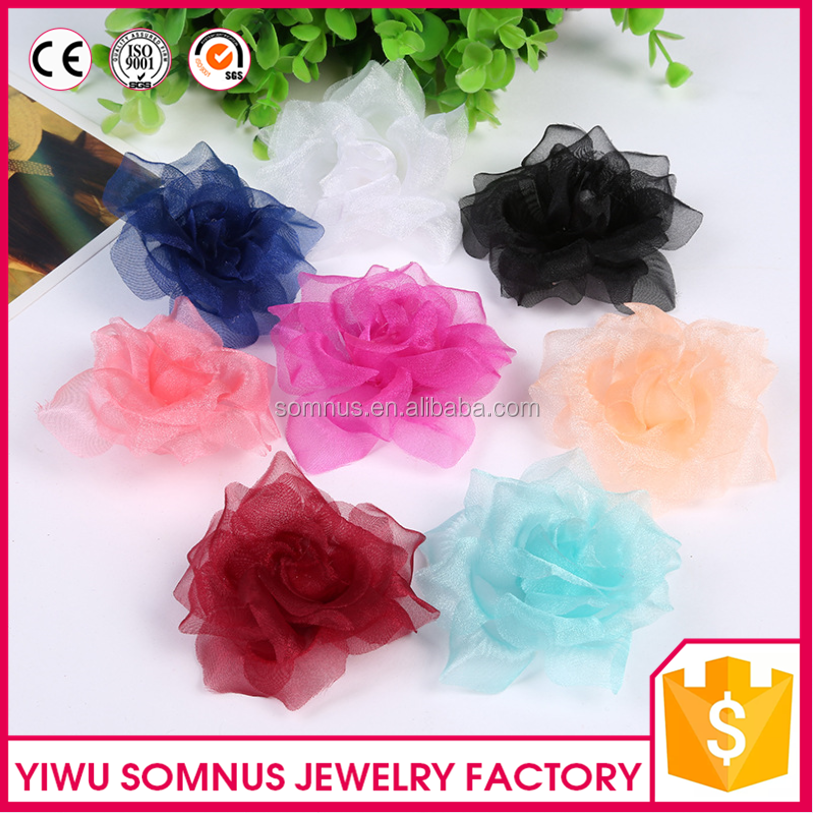 7CM Stcock High quality raw material for artificial fabric <strong>flowers</strong> wholesale
