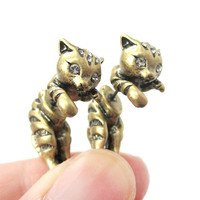 2016 fashion design hello kitty cat gold alloy stud wholesale polki jhumka earrings