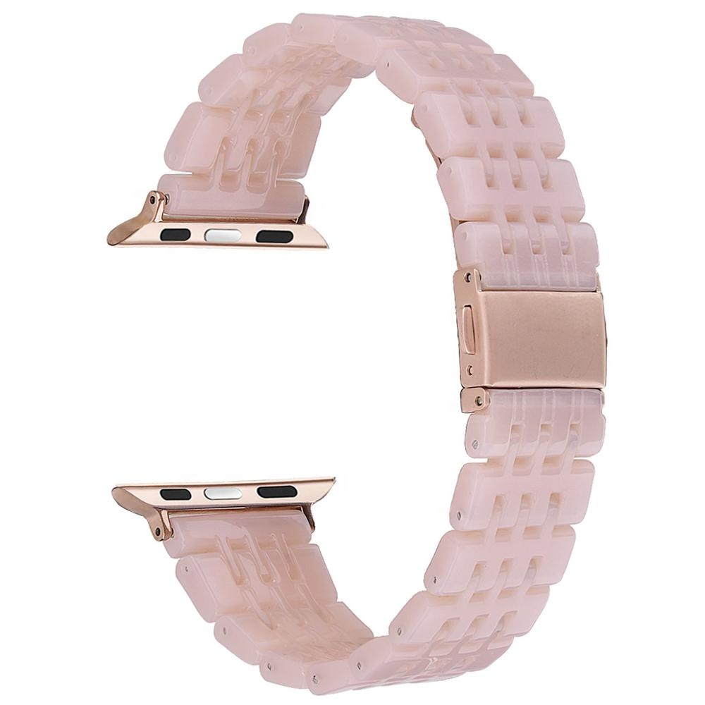 Stylish Lightweight Resin 7 Links Wristband 38mm 40mm Watch Strap for <strong>Apple</strong>