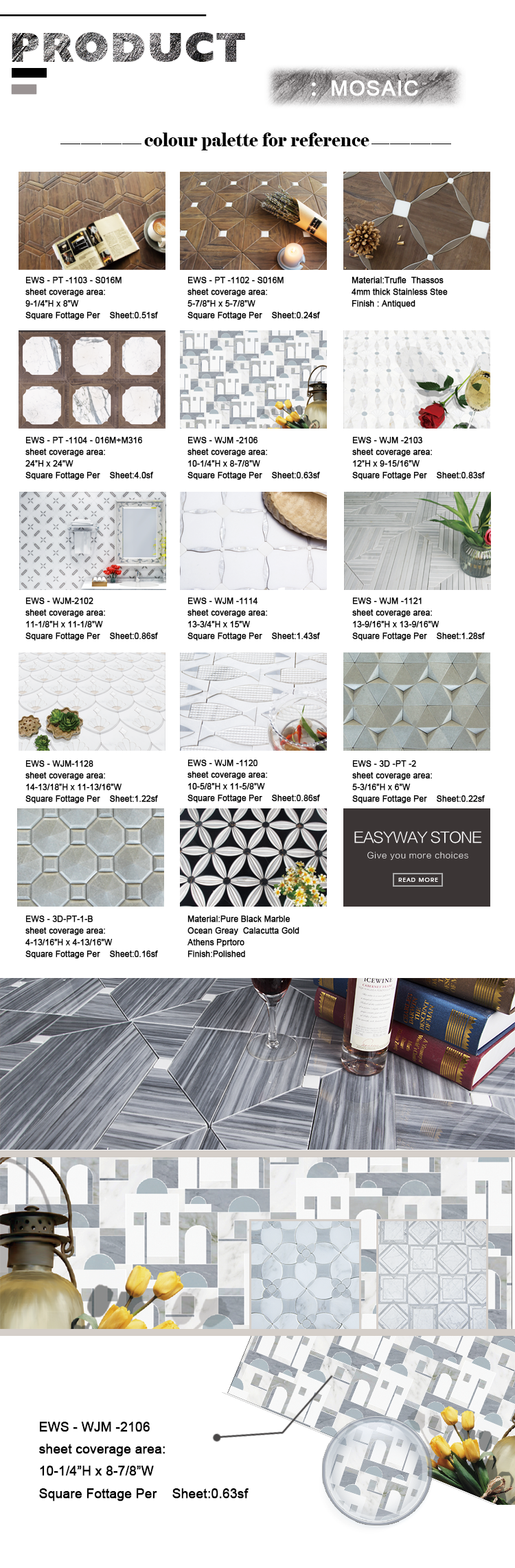 Custom Design Pattern Floor And Wall Mosaic Tile Water Jet Marble Mixed Moaic Moasic Mode Natural Marble Stone Mosaic Stone Buy Mosaic Tile Marble Tile Floor Decor New Pattern Mosaic Tile Water Jet