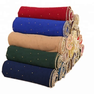 Wholesale Summer Fashion Rhinestone Beaded Chiffon Muslim Lady Turkish Hijab Scarf