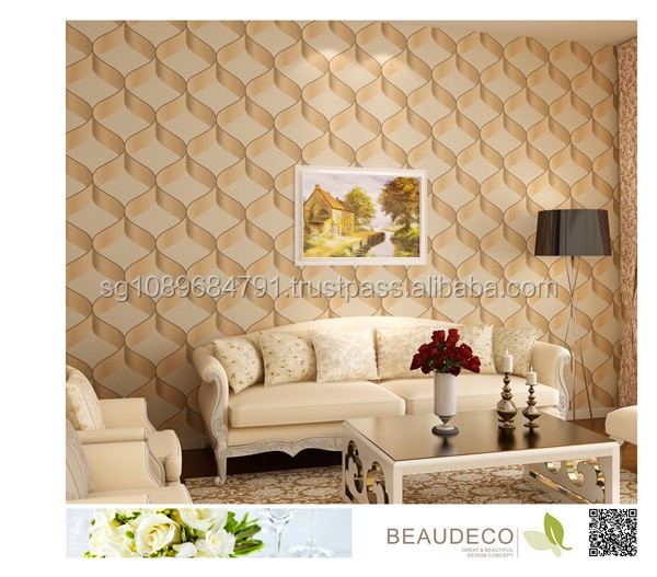 High Quality Pvc Living Room Wallpaper For Interior Wall Decoration ...