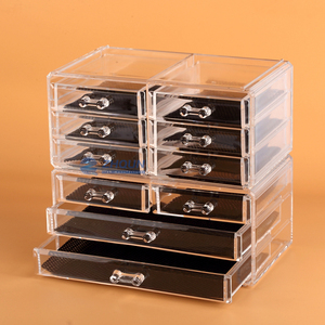 Cosmetic Organizer Clear Acrylic Display Cosmetic Makeup Drawers Holder Case Box Wholesale