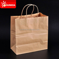 Custom logo printed grocery / shopping brown kraft paper bag