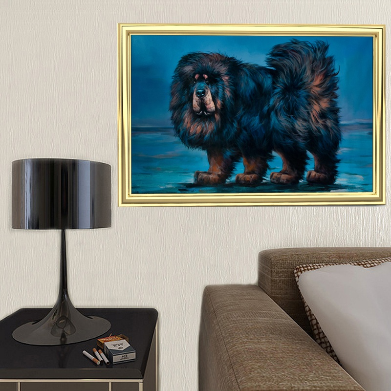 Custom personalized Royal Portrait Pet Dog Realistic Art handmade Animal Oil Painting