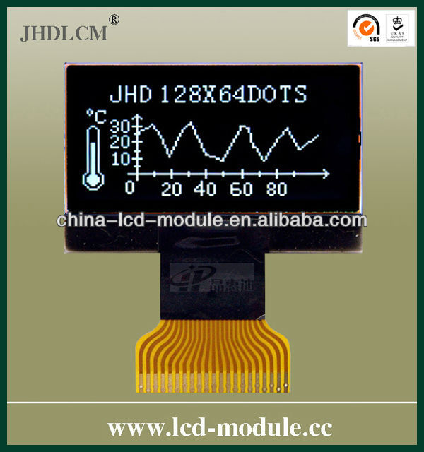 20pin welding FPC 128*64 Dot Matrix <strong>Lcd</strong> ModuleJHD12864-G08BTW-BL-3