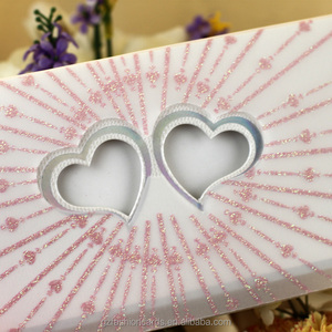 Glitter tracing paper cutouts for invitations blank wedding heart shape invitation cards