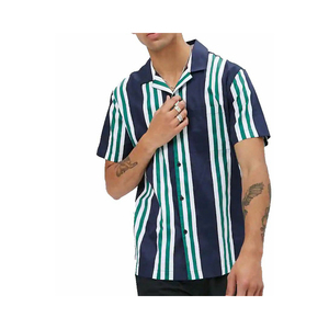 SS19 Cheap China Summer clothing vertical striped Mens shirt