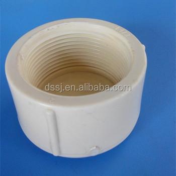 PVC Pipe fitting threaded end cap CUPC NSF ASTM ABS 11/2 inch plastic fittings & Pvc Pipe Fitting Threaded End Cap Cupc Nsf Astm Abs 11/2 Inch ...