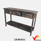 solid wooden french console table with drawer and shelf