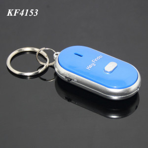 Wholesale Blister Card Packing Whistle Keychain Anti-lost Finder ABS Colorful Brand Custom Promotional Key Finder Alarm Whistle