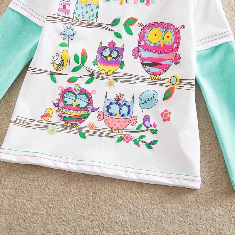 HTB1myZFfJnJ8KJjSszdq6yxuFXaW - Girls Long Sleeve All Year T-Shirt, Long Sleeve, Cotton, Various Designs and Prints
